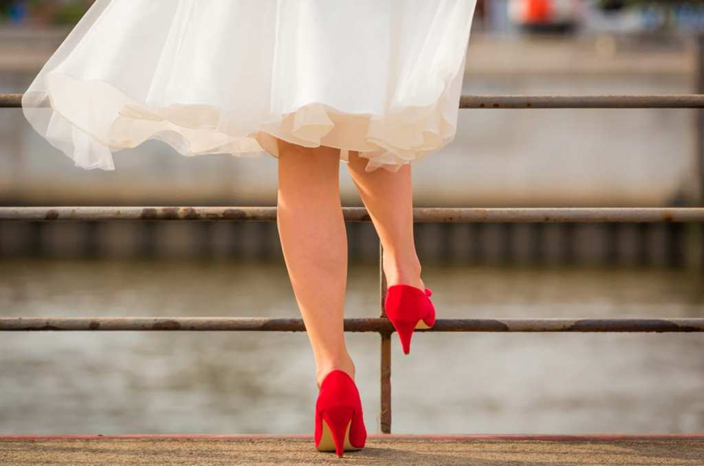 High heels not only makes you taller, also it will change