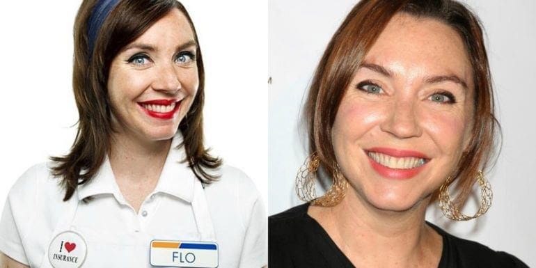 Flo progressive auto insurance stephanie courtney fakes mascots